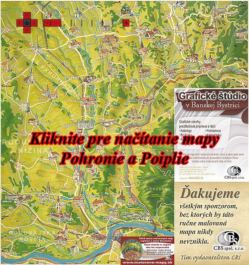 Interaktívna maľovaná mapa Dolné Pohronie a Poiplie