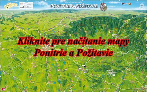 Interaktívna maľovaná mapa Ponitire a Požitavie