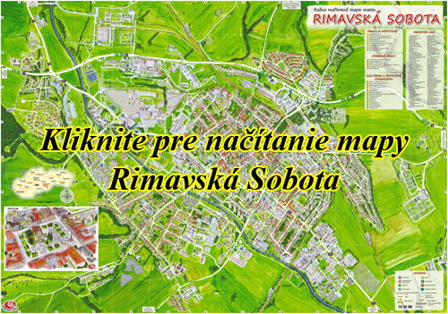 Interaktívna maľovaná mapa Rimavská Sobota