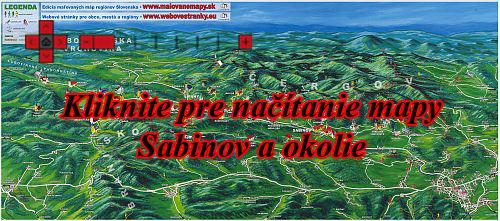 Interaktívna maľovaná mapa Sabinov a okolie