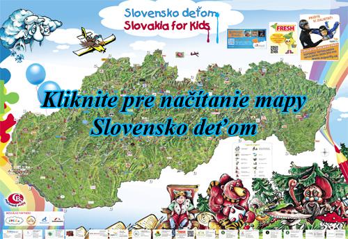 Interaktívna maľovaná mapa Slovensko deťom