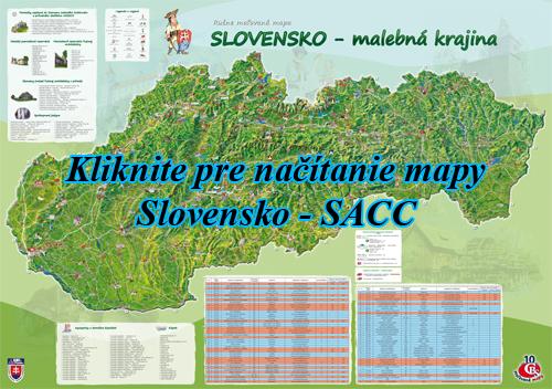 Interaktívna maľovaná mapa Slovensko - SACC