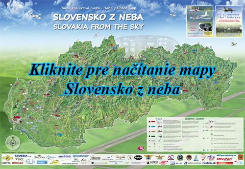Interaktívna maľovaná mapa Slovensko zneba
