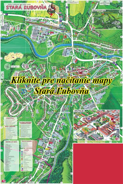 Interaktívna maľovaná mapa Stará Ľubovňa