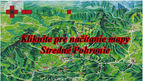 Interaktívna maľovaná mapa Stredné Pohronie