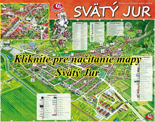 Interaktívna maľovaná mapa Svätý Jur
