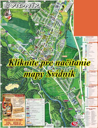 Interaktívna maľovaná mapa Svidník