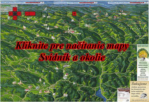 Interaktívna ma?ovaná mapa Svidník a okolie