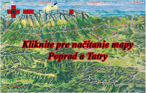 Interaktívna maľovaná mapa Poprad a Tatry