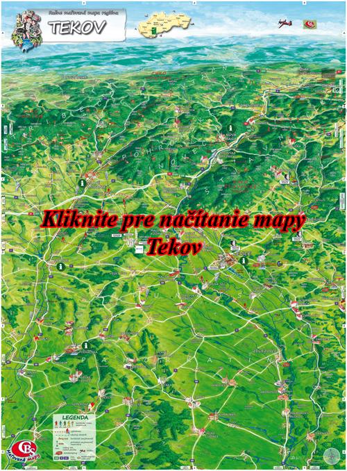 Interaktívna maľovaná mapa Tekov