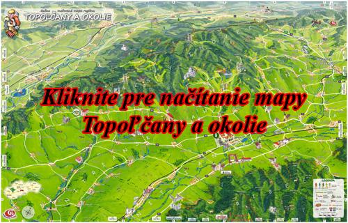 Interaktívna maľovaná mapa Topoľčany a okolie