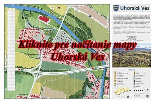 Interaktívna maľovaná mapa Uhorská Ves