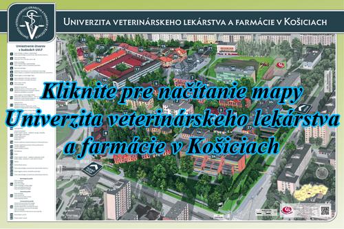 Interaktívna maľovaná mapa Univerzita veterinárskeho lekárstva a farmácie v Košiciach