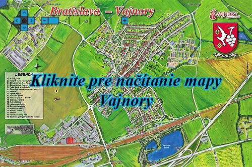Interaktívna maľovaná mapa Vajnory