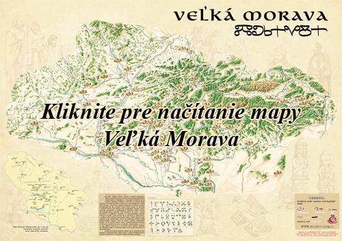 Interaktívna maľovaná mapa Veľká Morava