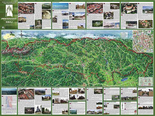 Interaktívna maľovaná mapa Prešovský samosprávny kraj