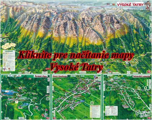 Interaktívna malovaná mapa Vysoké Tatry