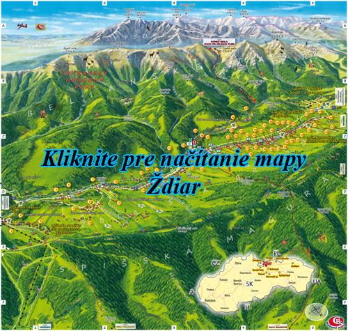 Interaktívna maľovaná mapa Ždiar