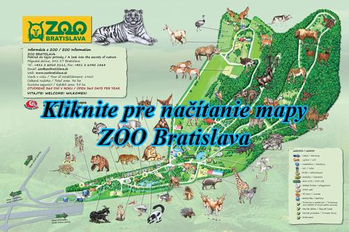 Interaktívna maľovaná mapa ZOO Bratislava