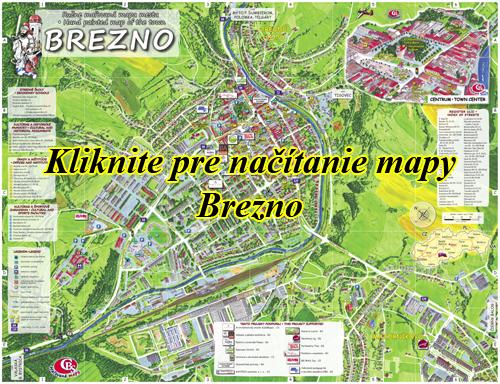Interaktívna maľovaná mapa Brezno