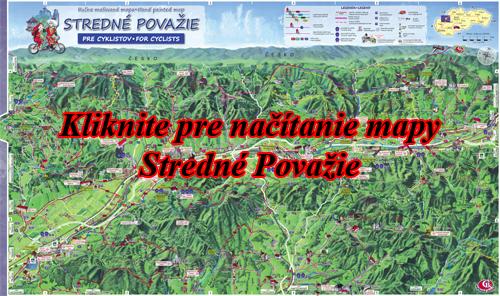Interaktívna maľovaná mapa Stredné Považie