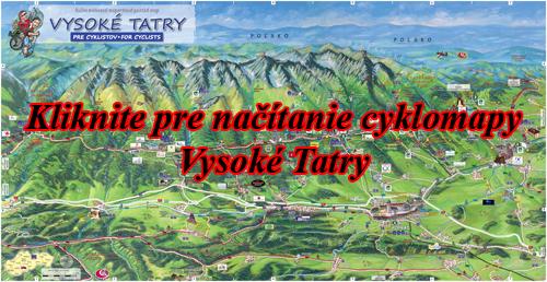 Interaktívna maľovaná mapa Vysoké Tatry