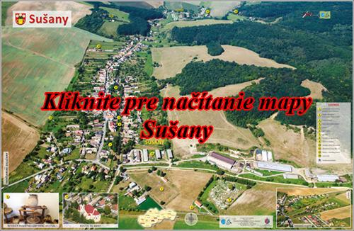 Interaktívna maľovaná mapa Sušany