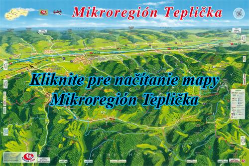 Interaktívna maľovaná mapa Mikroregión Teplička